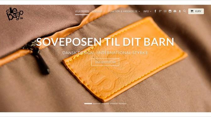 Babysovepose eller babylift – sleepbag.dk er dansk design når det er bedst