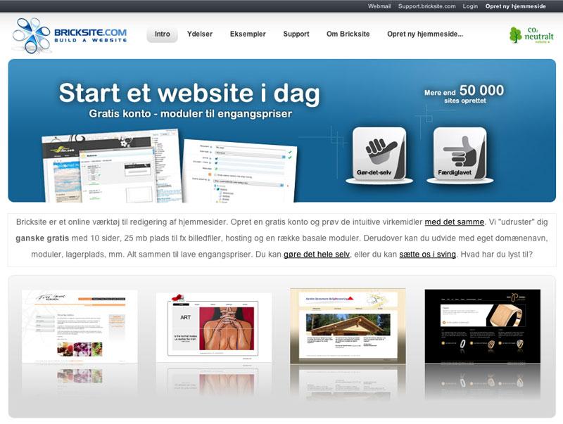 Gratis hjemmeside